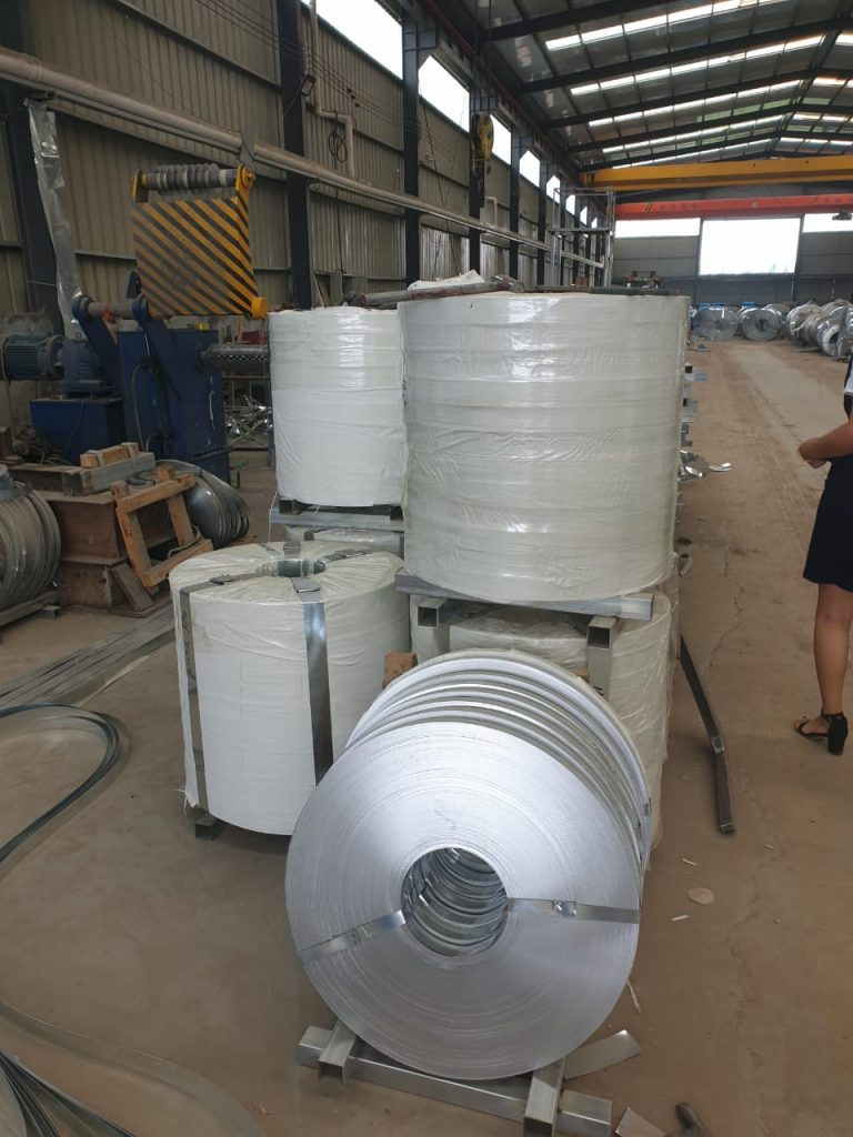 Finishing slitting plate galvanize